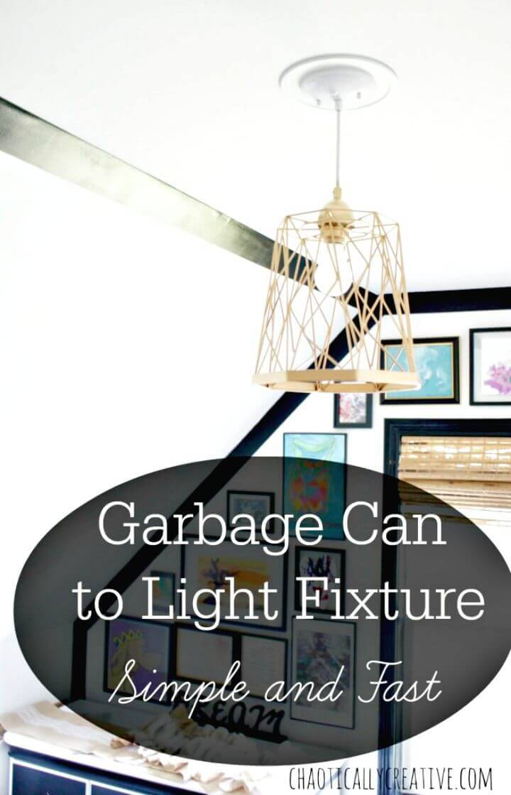 How to DIY Trash Can Lights