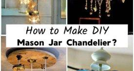 How to Make DIY Mason Jar Chandelier, DIY Mason Jar Chandeliers, DIY Crafts, DIY Home Decor Ideas, DIY Projects, DIY Lighting Ideas, Mason Jar Projects