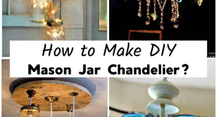 How to Make DIY Mason Jar Chandelier, DIY Mason Jar Chandeliers, DIY Crafts, DIY Home Decor Ideas, DIY Projects, DIY Lighting Ideas, Mason Jar Projects