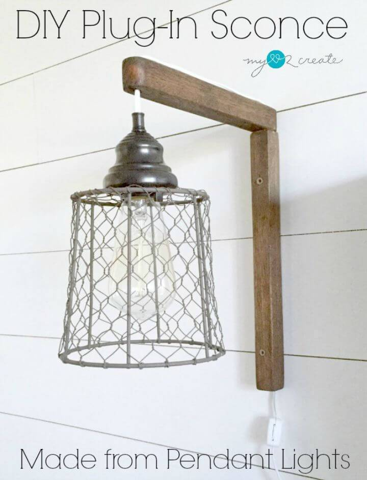 Make Plug-in Sconces from Pendant Lights - DIY Indoor Lighting Ideas