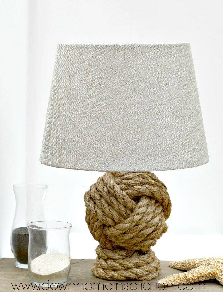DIY Pottery Barn Knockoff Rope Knot Lamp