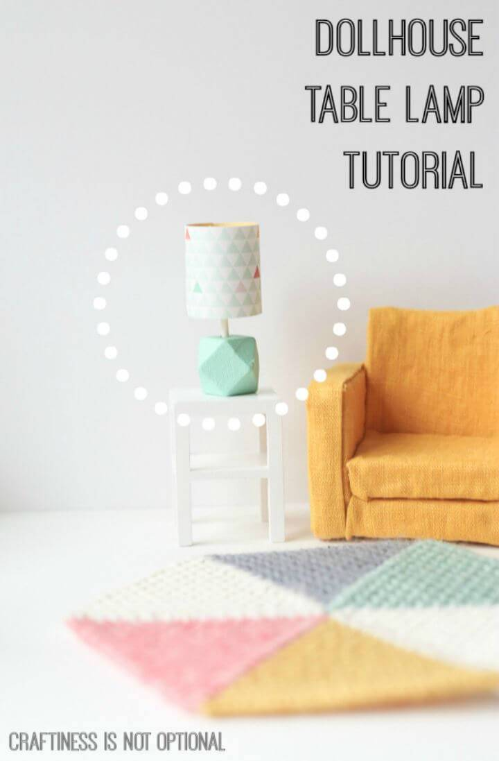 Cute DIY Dollhouse Table Lamp