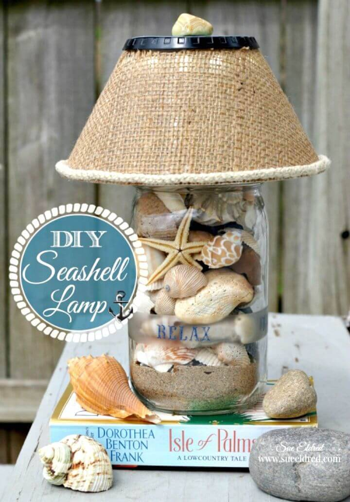 Make Your Own Seashell Lamp - DIY Indoor Lighting Ideas