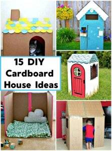 15 DIY Cardboard House Ideas, DIY Crafts, DIY Cardboard Playhouse Ideas, DIY Projects, DIY craft ideas for Kids, Easy Kids Crafts (1)