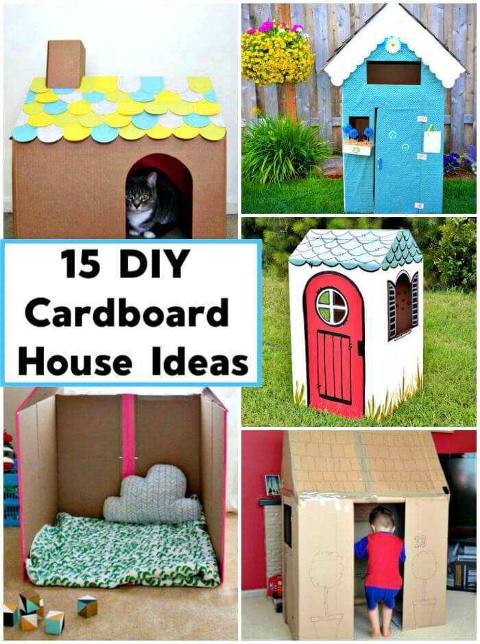 15 Diy Cardboard House Ideas Diy Crafts