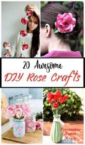 20 Awesome DIY Rose Crafts, diy flowers craft, diy crafts, diy home decor ideas, diy projects, diy fashion