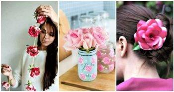 20 Easy DIY Rose Crafts, diy flowers craft, diy crafts, diy home decor ideas, diy projects, diy fashion