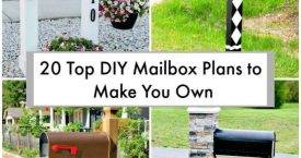 20 Top DIY Mailbox Plans to Make You Own, DIY Home Decor Projects, DIY Projects, DIY Craft Ideas, DIY Home Ideas