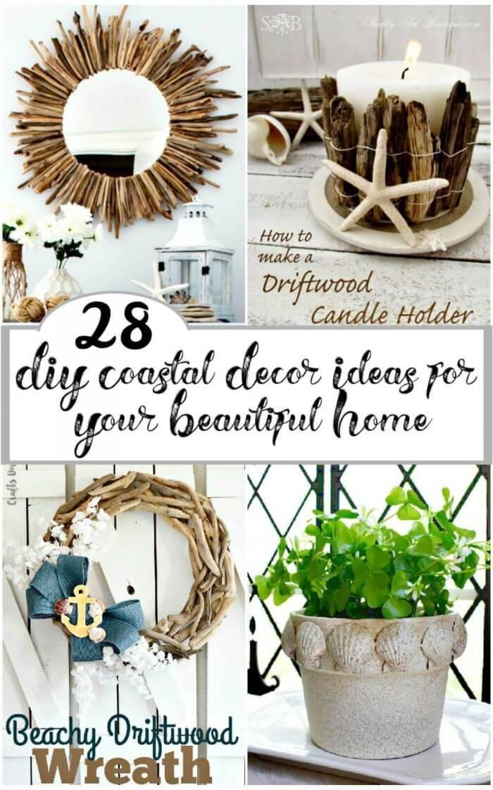 28 DIY Coastal Decor Ideas for Your Beautiful Home, DIY Home Decor Ideas, DIY Crafts, DIY Projects