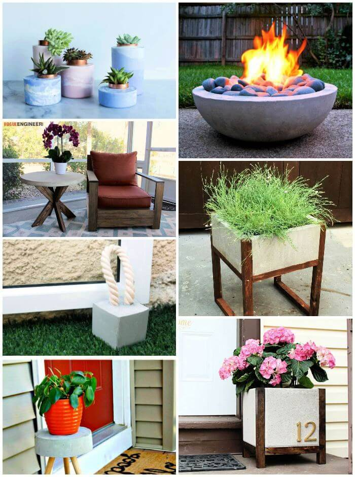 40 Unique DIY Concrete Projects to Tryout Now, DIY Crafts, DIY Projects, DIY Home Decor Ideas