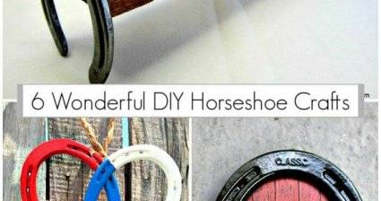 6 Wonderful DIY Horseshoe Crafts, DIY horseshoe decor, DIY Crafts, DIY Home Decor Ideas, Easy DIY Projects