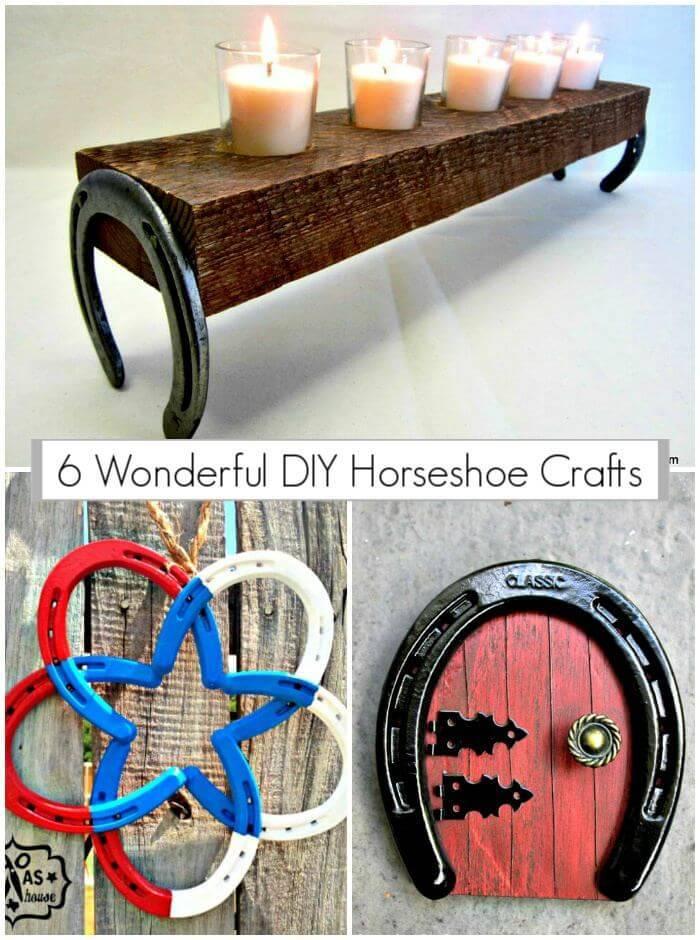 6 Wonderful DIY Horseshoe Crafts,DIY horseshoe decor, DIY Crafts, DIY Home Decor Ideas, Easy DIY Projects