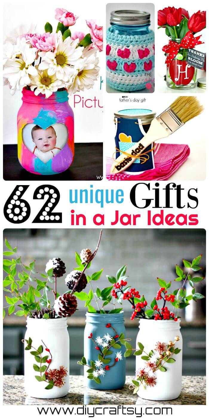 62 Unique DIY Mason Jar Gift Ideas, Gifts in a Jar Ideas, DIY Crafts, DIY Mason Jar Ideas, DIY Projects, DIY Home Decor ideas
