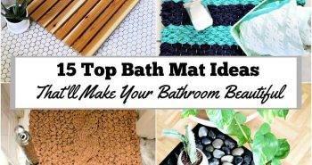 Bath Mat, 15 Top Bath Mat Ideas That'll Make Your Bathroom Beautiful, DIY Home Decor Ideas, DIY Projects, DIY Crafts (1)