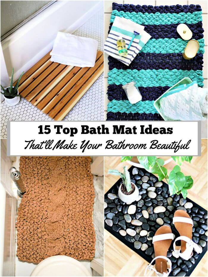 15 Top Bath Mat Ideas That Ll Make Your Bathroom Beautiful Diy