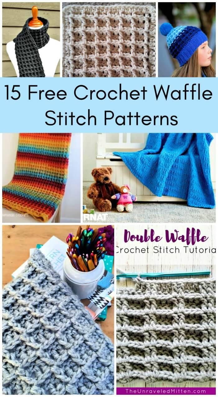 15 Free Crochet Waffle Stitch Patterns, Free Crochet Patterns, Crochet Stitches, DIY Crafts