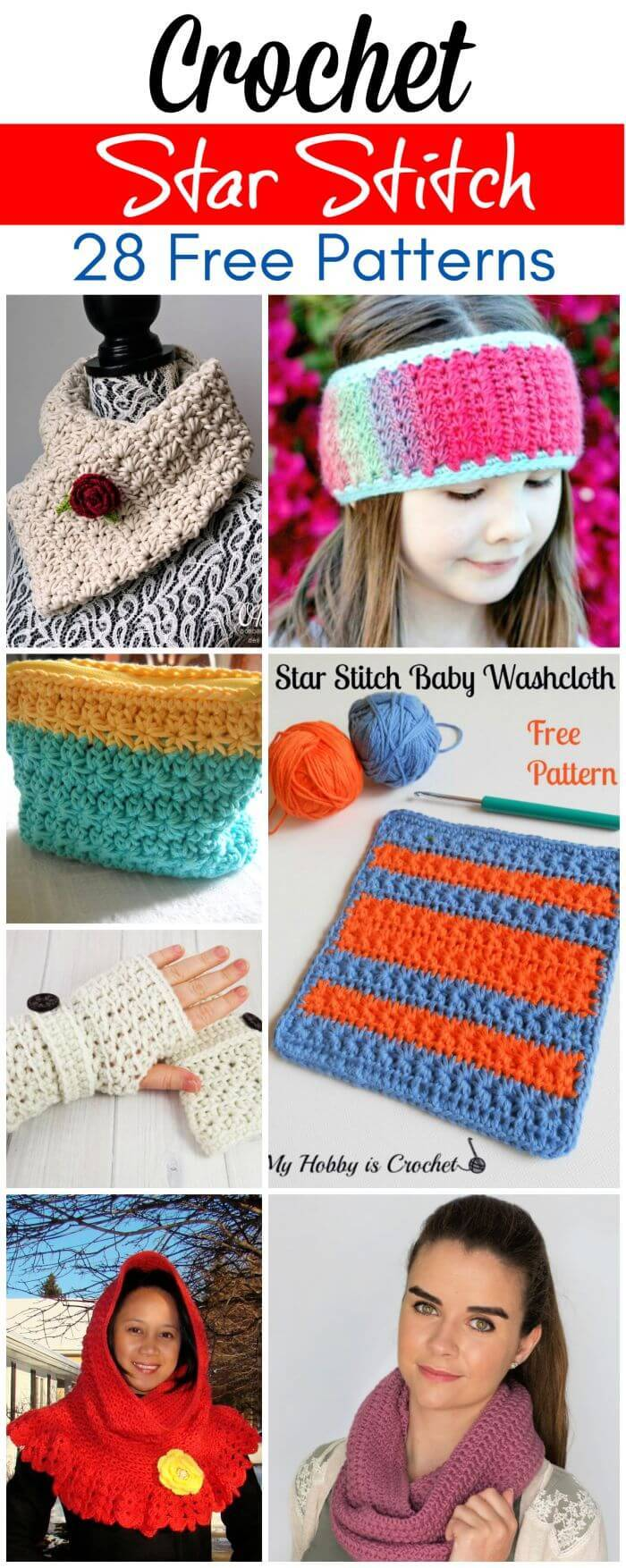 28 Free Crochet Star Stitch Patterns, Crochet Star Patterns, Crochet Stitches, Free Crochet Patterns, DIY Crafts