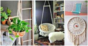 40 Awesome DIY Macrame Projects, DIY Crafts, DIY Projects, macrame wall hanging, macrame plant hanger