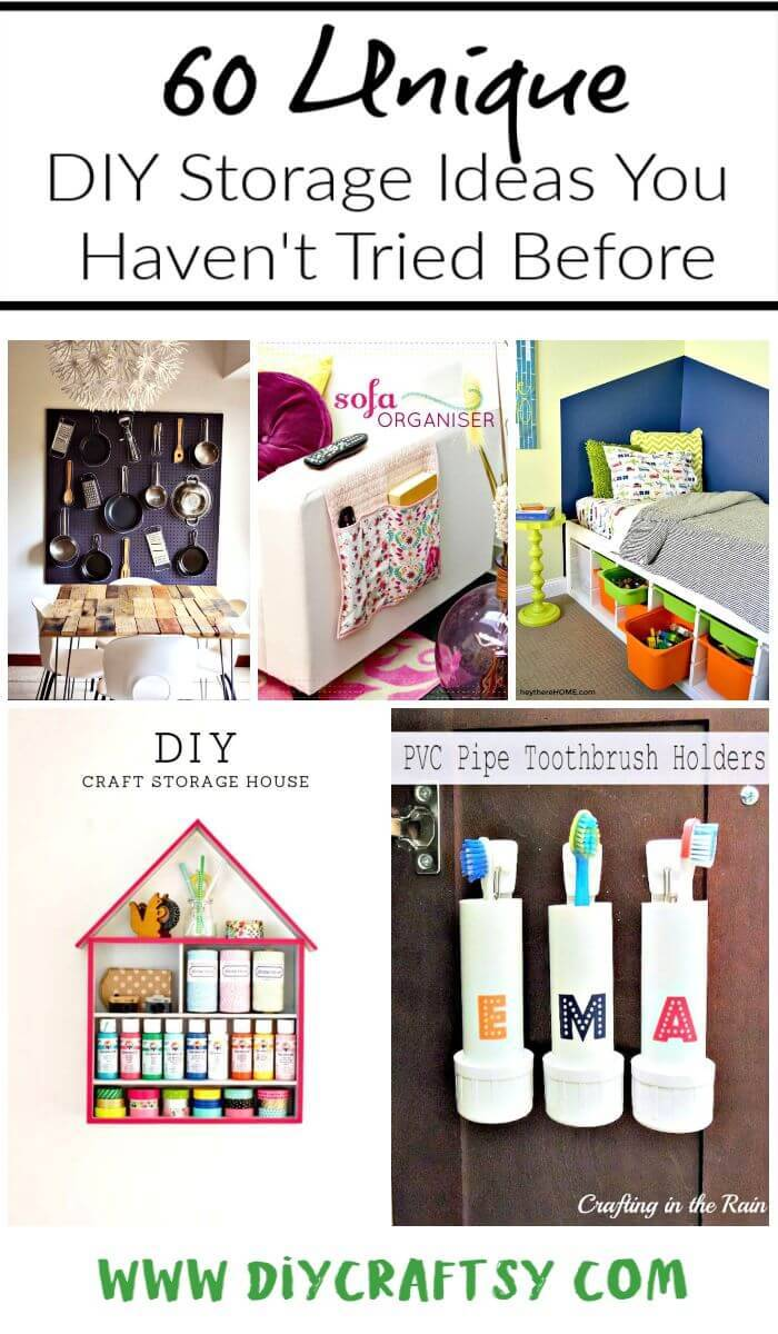 60 Unique DIY Storage Ideas You Haven't Tried Before, DIY Storage Projects, DIY Storage, DIY Crafts, DIY Ideas, DIY Projects, DIY Home Decor Ideas