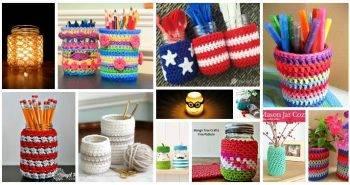 Crochet Jar Covers, 35 Free Mason Jar Cozy Patterns, Free Crochet Patterns,free crochet pattern mason jar, crochet lace jar cover, crochet jar lid covers, crochet candle cozy pattern (2)
