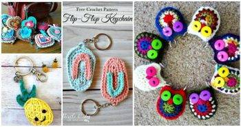 Crochet Keychain – 15 Free Crochet Patterns, DIY Crafts, Free Keychain Patterns, Crochet Keychains