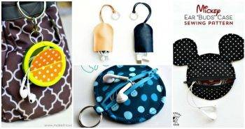 15 DIY Earbud Holder Ideas, diy earbud holder credit card, earbud pouch, diy earbud wrap, diy earphone cord holder