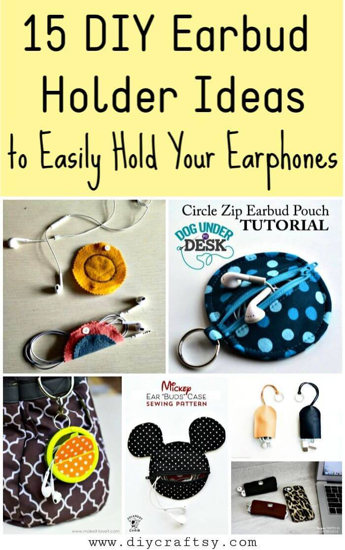 15 Diy Earbud Holder Ideas To Easily Hold Your Earphones Diy Crafts