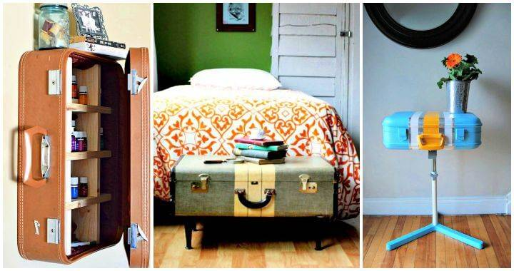 15 DIY Ideas to Reuse Old Suitcases, Creative Ways to Repurpose An Old Suitcase, Repurpose Old Suitcases
