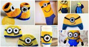 24 Free Crochet Minion Patterns, minion amigurumi, minion pattern printable