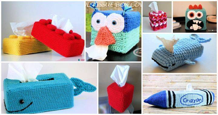 25 Free Crochet Tissue Box Cover Patterns, crochet tissue box cover, tissue box cover, free crochet patterns
