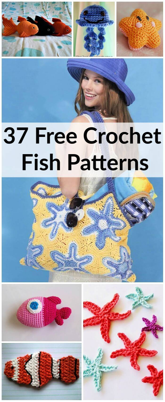 37 Free Crochet Fish Patterns To Make Your Own, Free Crochet Patterns, Crochet Patterns, DIY Crafts, Easy Craft Ideas