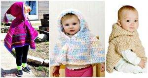 4 Free Crochet Baby Hooded Poncho Patterns, Free Crochet Patterns, Crochet Hats, Crochet Hat Patterns