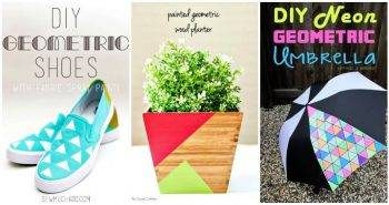 40 Geometric Painting Projects to DIY- How To, DIY Crafts, DIY Projects, DIY Ideas, DIY Craft Ideas