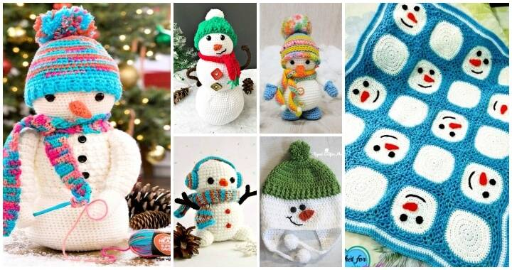 55 Easy Crochet Snowman Patterns Free - Easy Crochet Patterns, Free Crochet Patterns, Crochet Patterns, DIY Crafts, Easy Craft Ideas