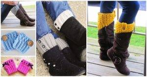 Crochet Boot Cuffs, Crochet Cuffs, Free Crochet Patterns, Crochet Patterns, DIY Crafts, Easy Craft Ideas