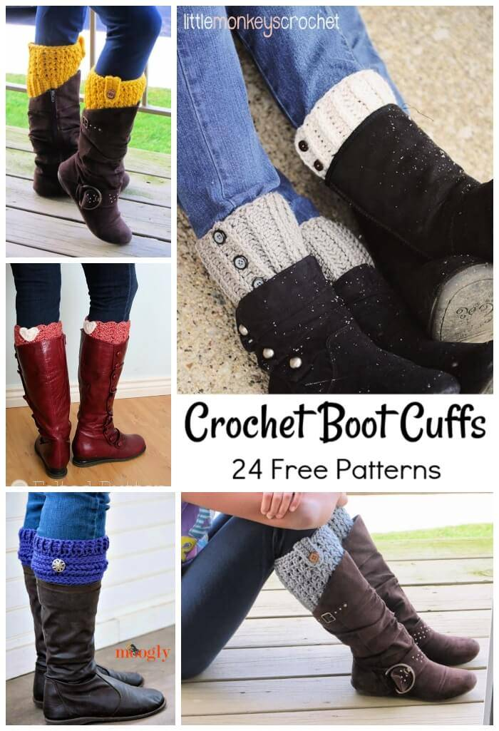 Crochet Boot Cuffs 24 Free Crochet Patterns Diy Crafts