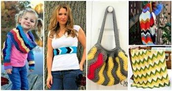 Crochet Chevron Patterns - Must Try 25 Free Crochet Patterns, sharp chevron crochet pattern, Easy Craft Ideas, DIY Crafts