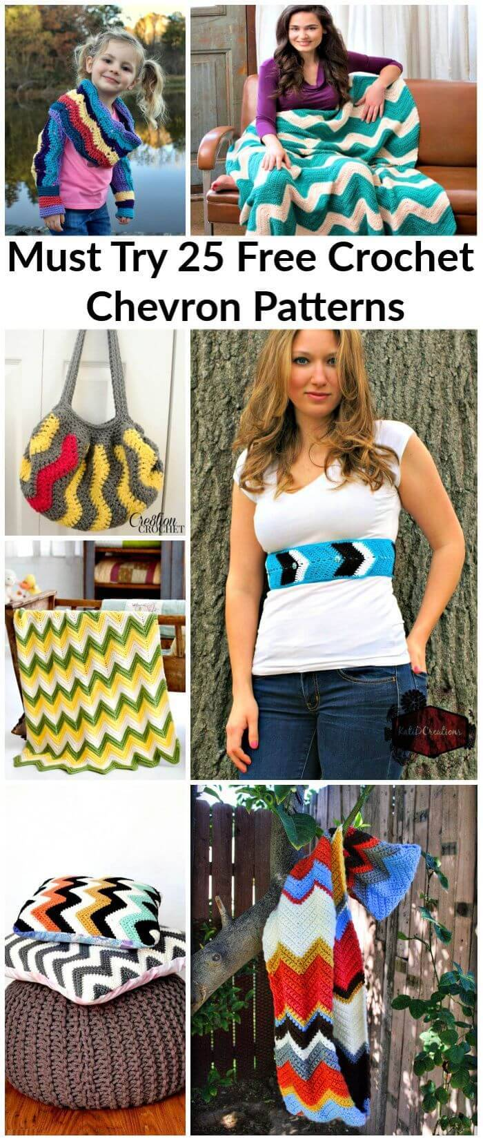 Crochet Chevron Patterns - Must Try 25 Free Crochet Patterns, sharp chevron crochet pattern, Easy Craft Ideas, DIY Crafts