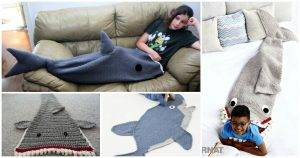 Crochet Shark Blanket - Top 10 Free Patterns, Free Crochet Patterns, Crochet Patterns, DIY Crafts, Easy Craft Ideas
