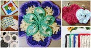 112 Free Crochet Pot Holders Pattern, Free Crochet Patterns, Easy Crafts, Easy Craft Ideas, DIY Crafts