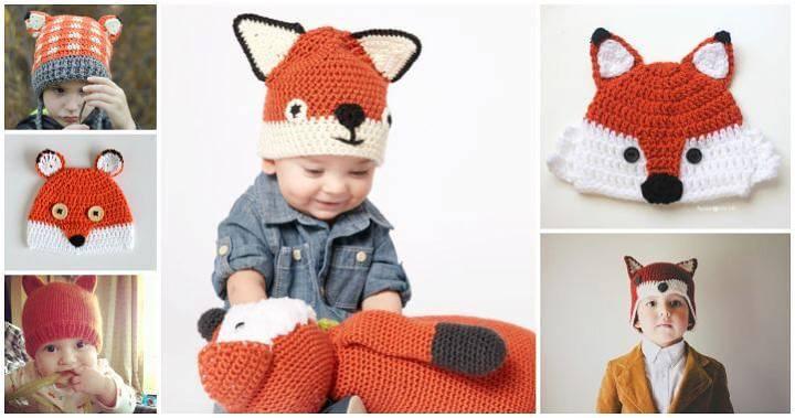 14 Free Crochet Fox Hat Patterns, Free Crochet Patterns, Easy Crafts, Easy Craft Ideas, DIY Crafts
