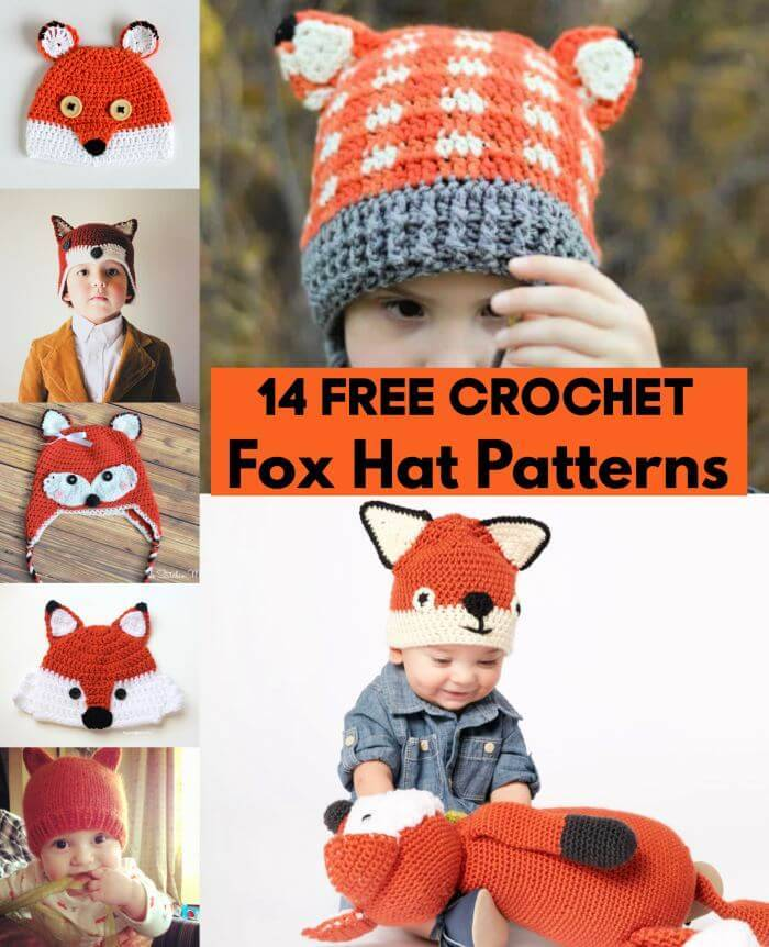 14 Free Crochet Fox Hat Patterns, Free Crochet Patterns, Easy Crafts, Easy Craft Ideas, DIY Crafts