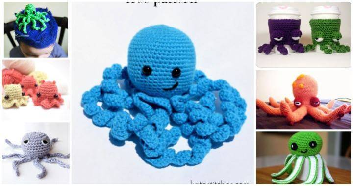 15 Free Crochet Octopus Patterns, Free Crochet Patterns, Easy Crafts, Easy Craft Ideas, DIY Crafts