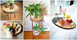 25 Best Ways to Use Wood Slice in Your DIY Home Decor, DIY Projects, DIY Furniture, DIY Crafts