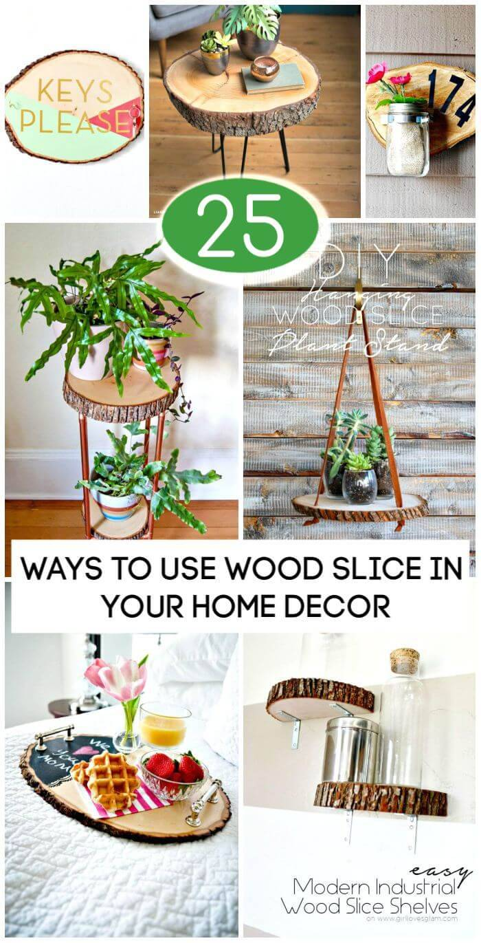 25 Best Ways to Use Wood Slice in Your DIY Home Decor, DIY Projects,