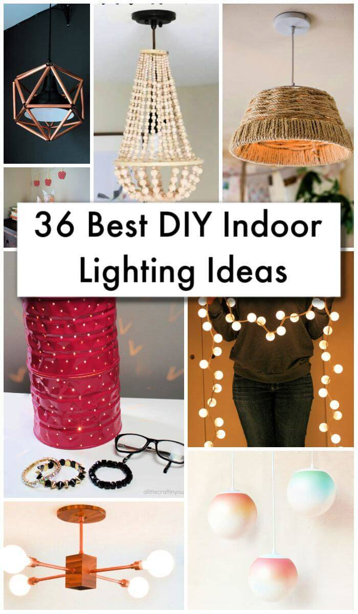 36 Best DIY Indoor Lighting Ideas, DIY Home Decor Ideas, easy craft ideas, DIY crafts, DIY Home Decor Projects