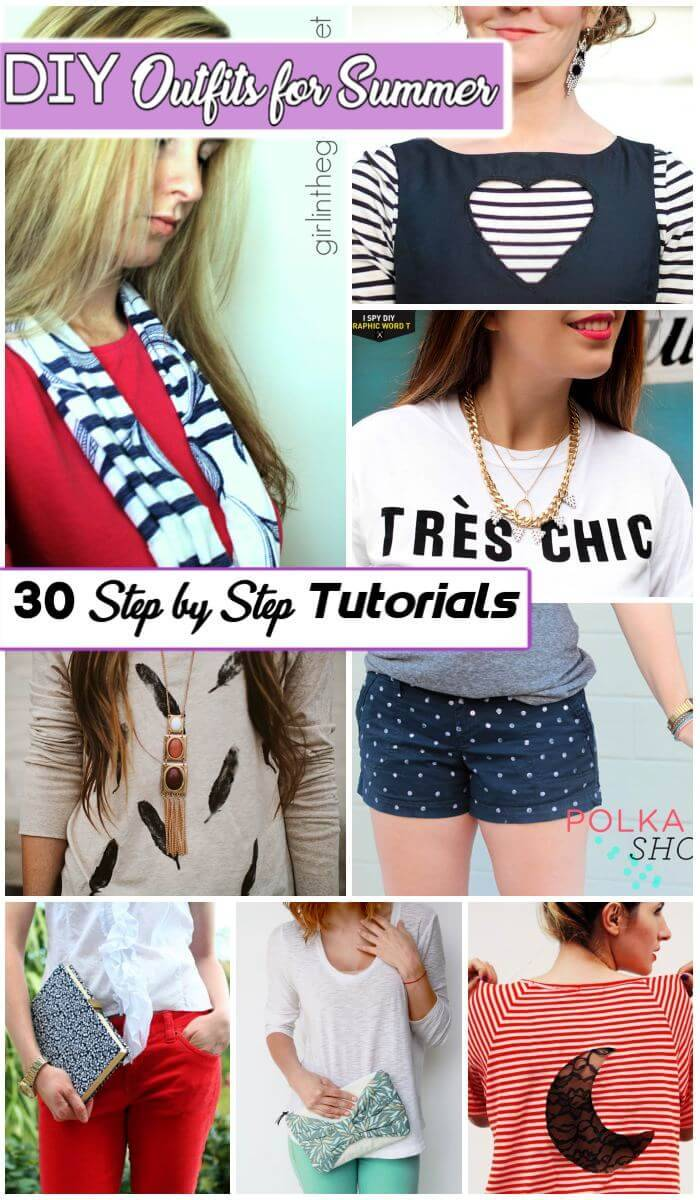 30 Lovely DIY Outfits for Summer, DIY Outfit Ideas for Summer, DIY Outfit Ideas, DIY Fashion Crafts, DIY Crafts
