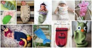 33 Free Crochet Baby Cocoon Patterns, Free Crochet Patterns, Free Patterns, Crochet Patterns, DIY Crafts