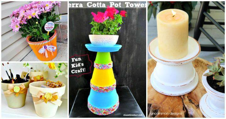 35 DIY Crafts With Terra Cotta Pots, DIY Home Decor, DIY Projects, DIY Furniture, DIY Crafts