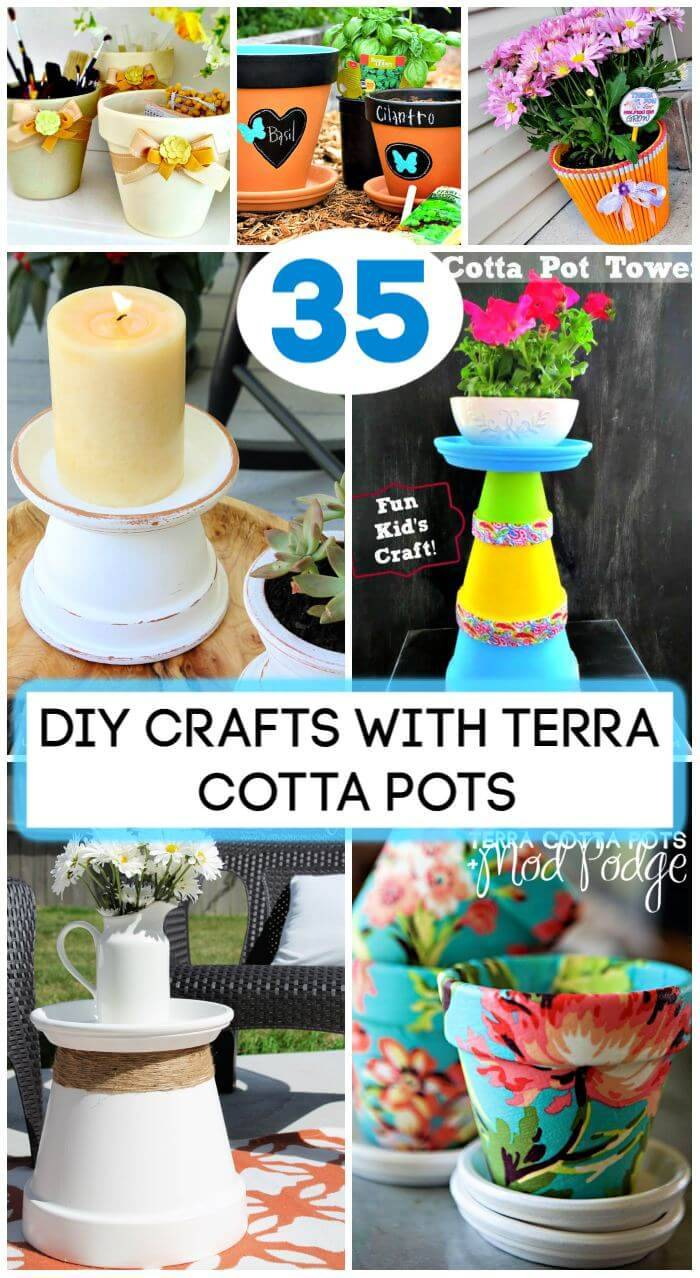 35 DIY Crafts With Terra Cotta Pots, DIY Home Decor, DIY Projects, DIY Furniture, DIY Crafts